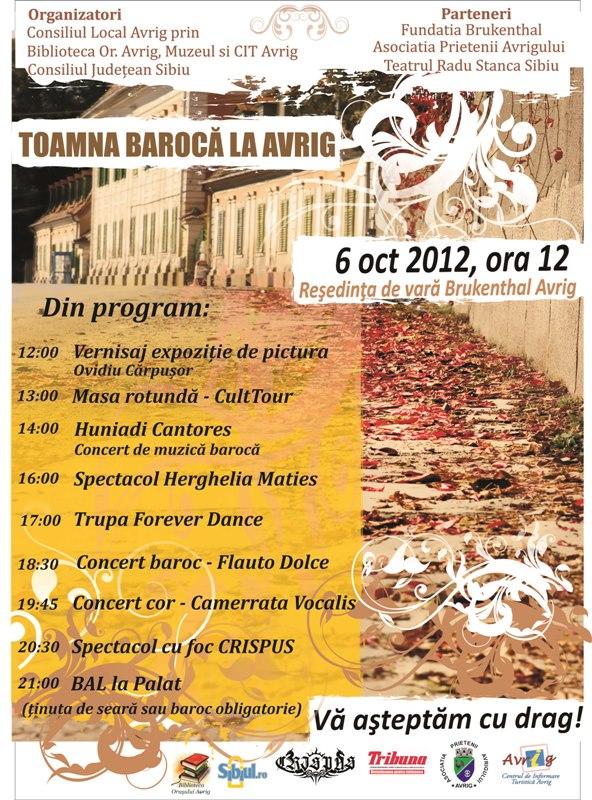 Toamna Baroca la Avrig ed IV – 6 oct 2012