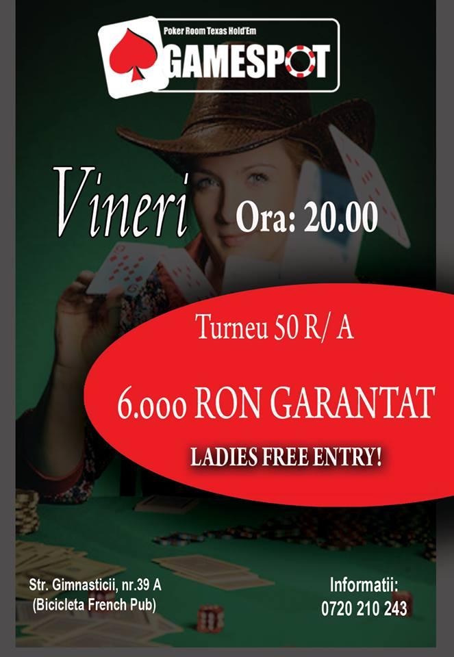 Vineri Turneu 50 R/A Poker Gamespot