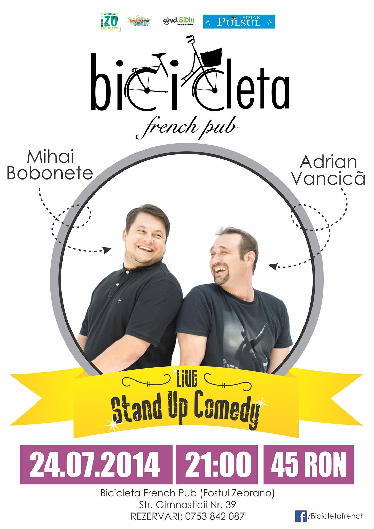 Stand Up comedy cu Bobita si Celentano in Bicicleta French Pub