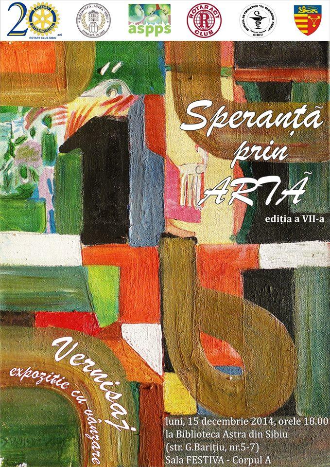 Vernisajul  expoziţiei SPERANŢĂ PRIN ARTĂ Sibiu
